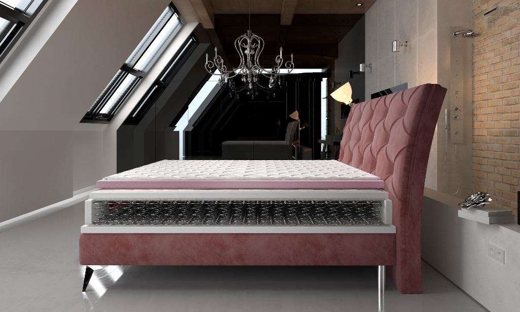 prierez postele - Manželská posteľ Adel 160/180