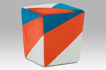 oranžová / modrá / biela