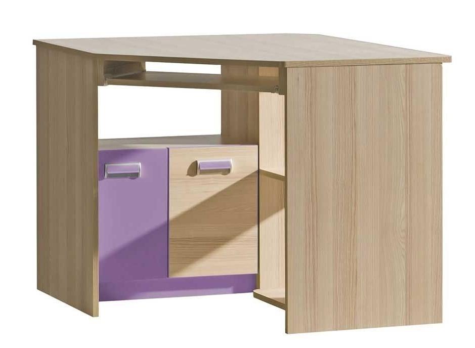 jaseň coimbra + fialová - LORENTO detský rohový stolík L11