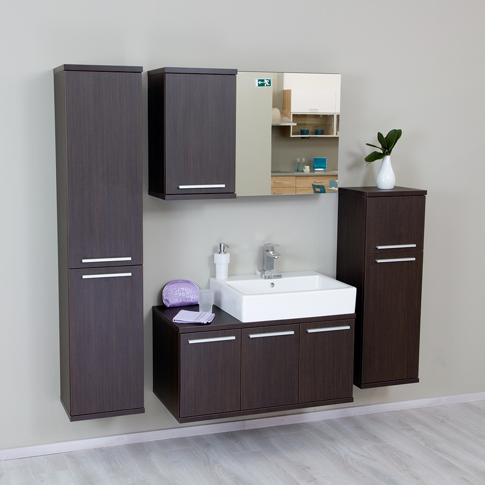 wenge - Kúpeľňová zostava REA REST III