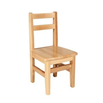 Detská stolička z bukového masívu - Model 04 - Skladom
