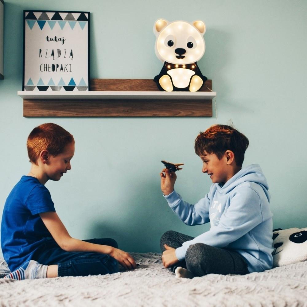 detská lampička panda - sivá - Detská dekoračná lampa Panda