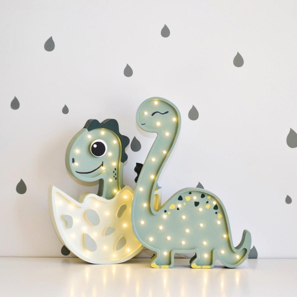 malý dinosaurus + veľký dinosaurus - Detská dekoračná lampa Malý Dinosaurus