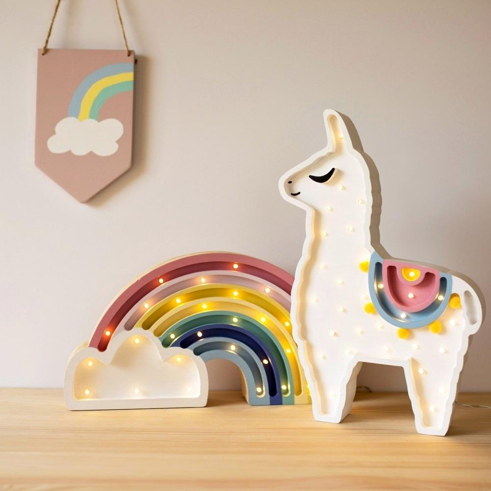 detská lampička lama - Detská dekoračná lampa Lama