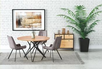 stôl - dub zlatý + čierny kov