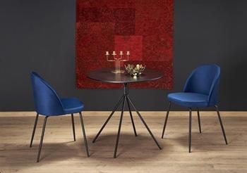 stôl Fondi + stoličky K314 v tmavomodrej látke - Jedálenský set FONDI + K314  1+2