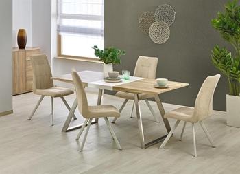dub sonoma + biela - stôl po rozložení