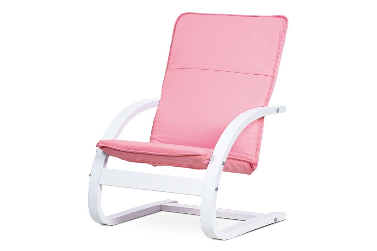 biela + ružová - Detské kreslo QR-06