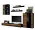 slivka + čierny lesk  - Obývacia stena CANES NEW + LED