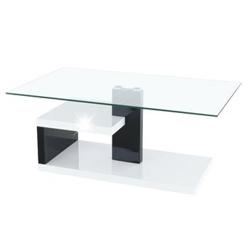 biely vysoký lesk + čierny vysoký lesk + číre sklo