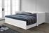 biela  -  v rozloženom stave  - Rozkladacia posteľ GORETA