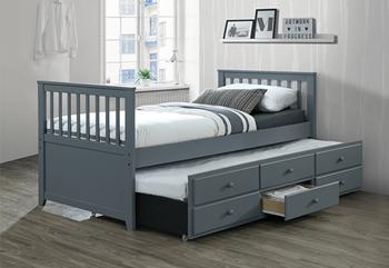 sivá  - Rozkladacia posteľ AUSTIN NEW