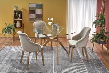 Stôl Ashmore + Kreslá Toledo 2